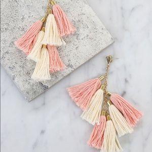 Ettika 18k gold tassel earrings